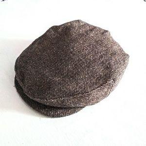 Vintage Miller Hats Men's Herringbone Newsboy Cap